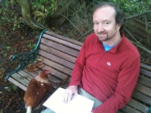 Phil with one of our chickens