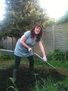 Rachel in the Kitchen Garden