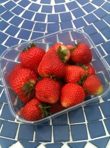First full punnet of strawberries